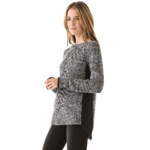 Elizabeth & James Chunky Cable Knit Sweater Wool S